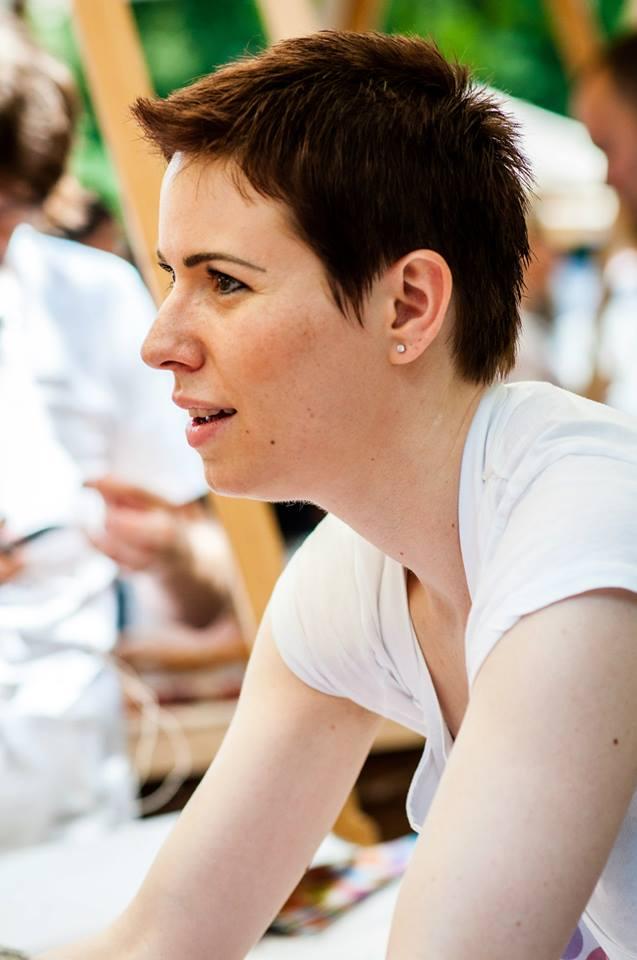 Hanka - rozená obchodnice v akci. Foto Markéta Cicvárková.